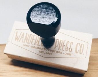 Custom Logo Stamp, Business Stamp, Custom Rubber Stamp, Business Logo, Business Card Stamp, Custom Art Stamp   Wanderlove Press