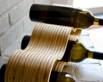 One wooden Wine bottle Rack, Wine bottle Holder, table top wine bottle rack, Wine bottle Shelve, Wine bottle Box, wine bottles organizer