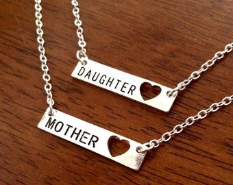 Mother daughter necklaces, daughter necklace, mother necklace, mum jewellery, mom jewelry, family gift, mothers day gift