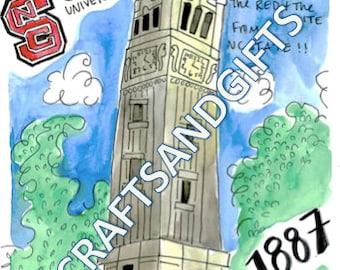 NCSU Bell tower Print