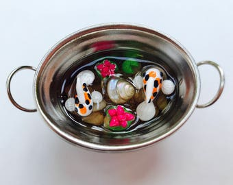 Polymer Clay Koi Fish Pond