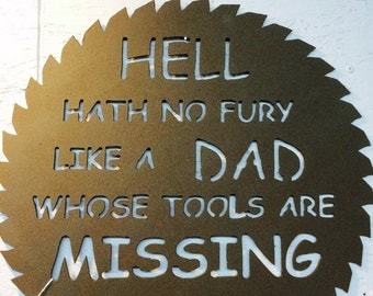 Dads tool sawblade sign