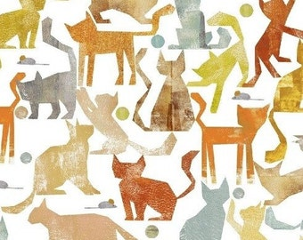 Smarty Cats At Play White For Windham Fabrics