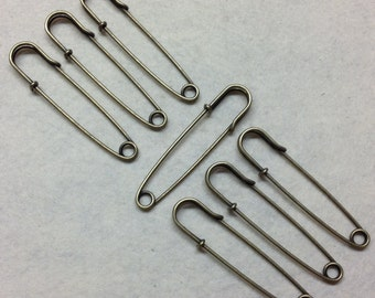 70mm  Antique Bronze Kilt Pins - Stitch Metal Coat/Jacket Broach - Bag Accessories/Decoration/Charms