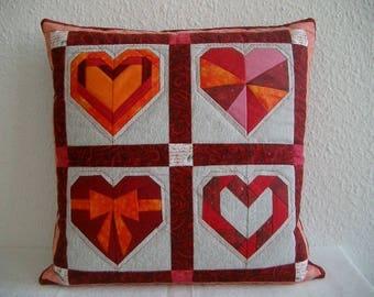 Patchwork Cushion cover Cushion cover 40 x 40 cm heart