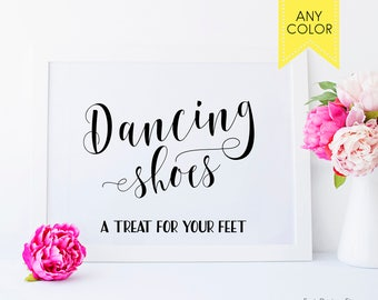 Wedding dancing shoes sign Dancing Shoes wedding signs basket Dancing sign Wedding flip flops for wedding guests Flip Dancing feet sign