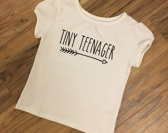 Tiny Teenager Toddler Arrow Shirt