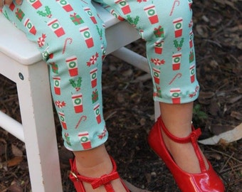 Christmas Coffee Leggings-  leggings, Christmas, winter outfit, girl leggings, toddler leggings, baby leggings, starbucks leggings, holly
