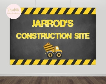 Printable Construction Backdrop, Construction Birthday Party Backdrop, Dump Truck Party, Construction Banner, Boy Birthday YOU PRINT