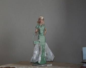 dress Poppy Parker doll taffeta and ivory lace on ETSY