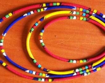 4 in 1 Zulu beaded maasai necklace.