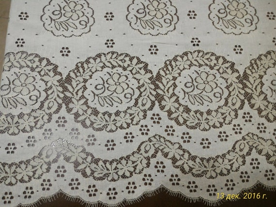 yellow lace fabric, French lace, lace Bridal lace Wedding lace White lace Veil lace Scalloped Floral lace Lingerie