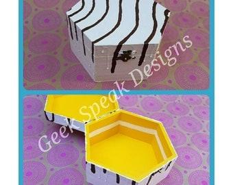 Zebra cake decorative storage box