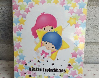 Little Twin Stars notepad, Vintage Sanrio notepad
