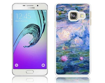Water Lilies Monet Hard Cover for Samsung GALAXY A3, A3 2016, A3 2017, A5, A5 2016, A5 2017 Polycarbonate Case