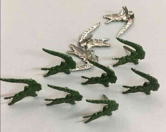 Crocodiles Alligator Animal Reptile Shaped Brads By Stampin' Up