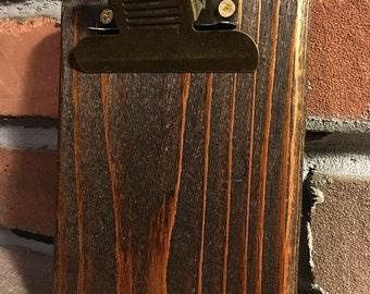 Restaurant Menu Clipboards - Restaurant Menu Boards with Hanging Clip - Rustic Drink Menu Boards - Rustic Clipboard - Rustic Clipboard Clip