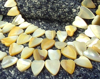 Mother of pearl beads heart - mother of Pearl - natural pearls