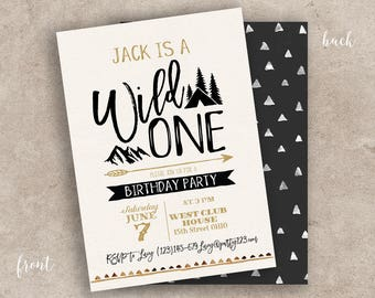 Nature invitation etsy mountain wild one invitation camping summer party invitation rustic hes a wild one birthday stopboris Gallery