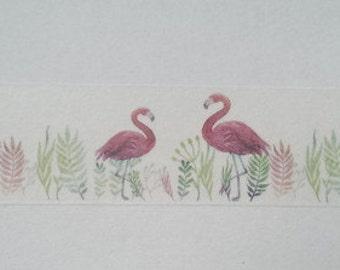 Design Washi tape Flamingo summer plants
