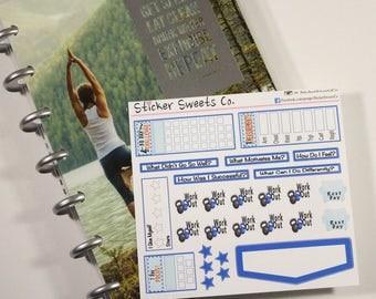 Mini Progress Page Fitness Stickers for the mini MAMBI Fitness Planner