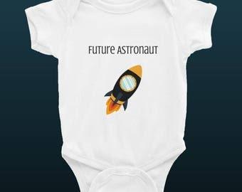 Future Astronaut Infant Baby Rib Bodysuit