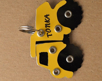 Tonka Truck Pet Tag Dog ID Metal Construction Tractor