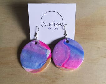 "Handmade statement dangle earrings // gifts for her // ""Fushion"""