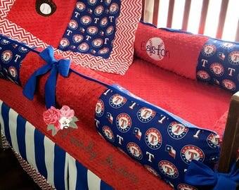 Texas rangers crib bedding