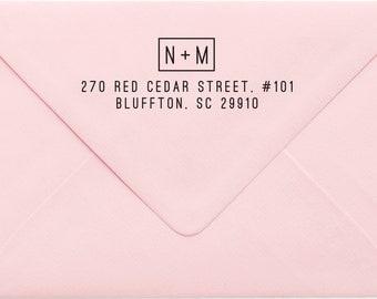 Address Stamp, Custom Personalized Address Stamp, Self Inking Return Address Stamp, Personalized Address Stamp, Custom Wedding Stamp 24NP