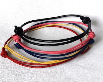 Leather Bracelet Friendship bracelets men bracelet adjustable bracelet Expandable cord bracelet mens jewelry Boyfriend bracelet for him gift