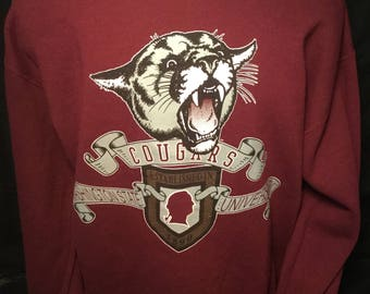 Vintage 1990's WSU  Cougars 50/50 Sweatshirt Shirt  Awesome