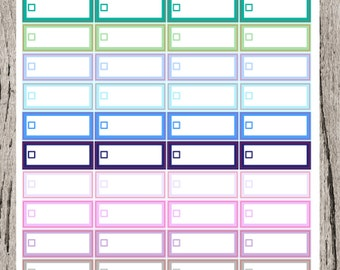 Cool quarter check box planner stickers