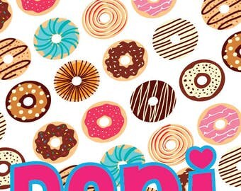 "Personalized 30""x65"" Donuts Towel"