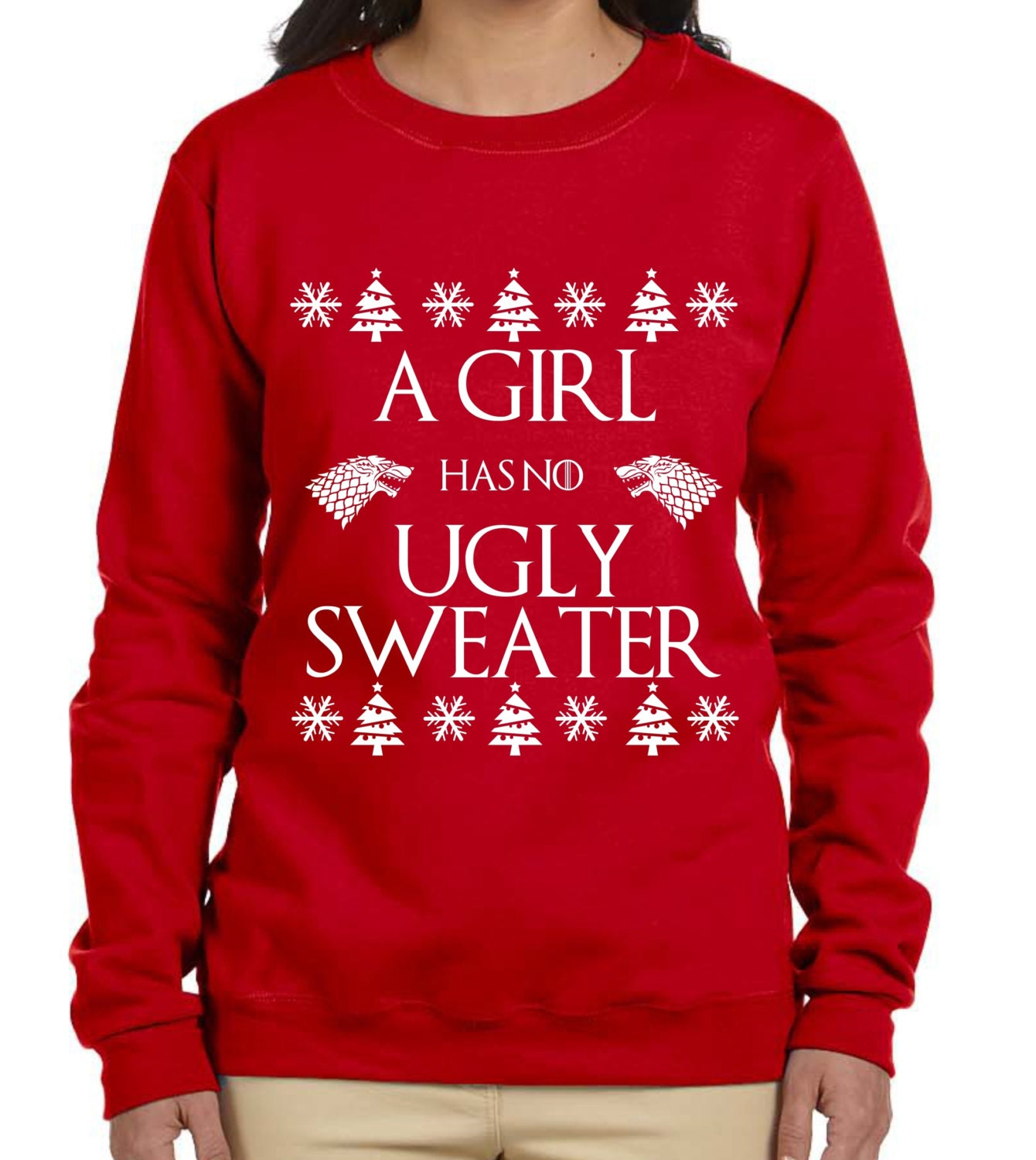 A Girl Has No Ugly Sweater Game of Thrones Christmas Sweater