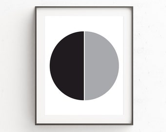 Black Gray Wall Decor, Minimal Modern Wall Art, Minimalist Geometric Wall Art, Black Gray Wall Prints, Gray Modern Wall Print, Art Prints