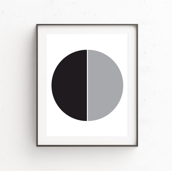 Black gray wall decor minimal modern wall art minimalist for Minimal art wall