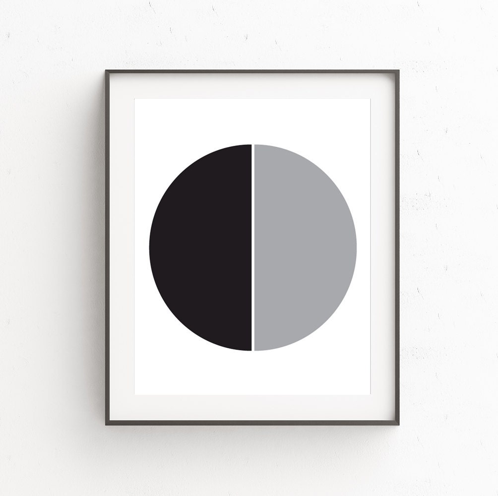 Black gray wall decor minimal modern wall art minimalist for Modern minimalist wall art
