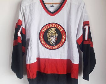Vintage CCM Vintage Ottawa Senators Plain NHL #14 Hall Hockey Jersey Adult Size Small