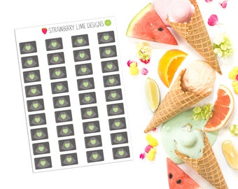 Mini Ultrasound Stickers - Green Heart