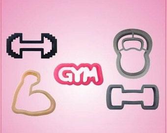 Gym Cookie Cutter Set