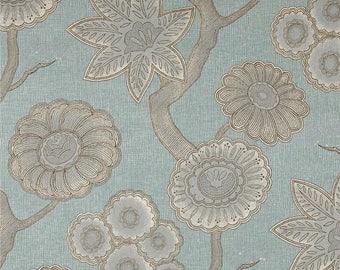 P Kaufmann Gloss Chintz Spa Blue Fabric by the yard Multipurpose