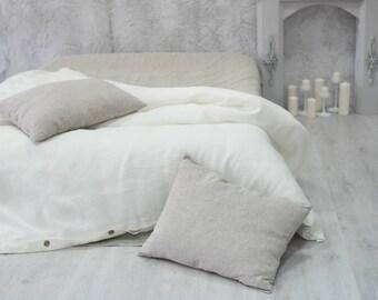 linen duvet cover ivory white color calking queen king full twin xl double us uk sizes