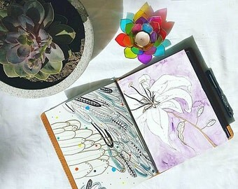 """Customised Weekly Purple Flower Planner