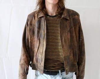 70s Genuine Leather Brown Jacket