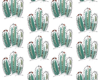 Cacti Pattern Print