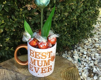 Hand painted best mum ever mug with optional personalisation on the back gift custom gift coffee cup unique mug coffee lover cute mug