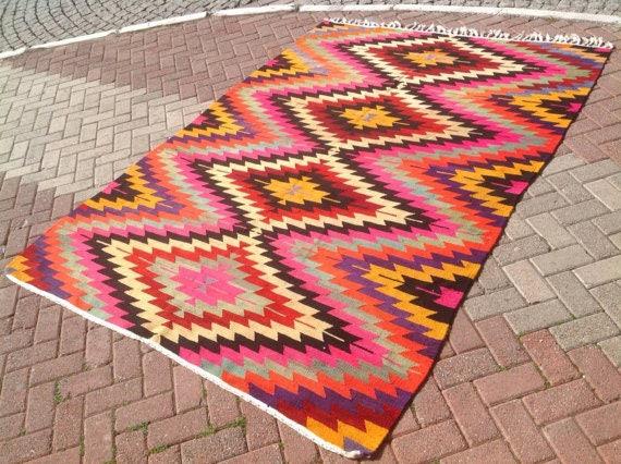turkish kilim rug area rug rug vintage rug bohemian rug turkish