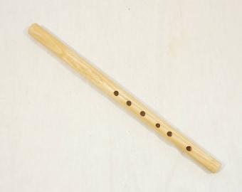 Carved wooden tin whistle, folk flute in C - western hungarian folk flute