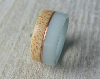 One of a Kind Bamboo Ring // Made from Recycled Materials// Eco-Friendly Ring// Promise Ring // Wedding Ring